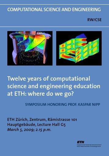 twelve years of computational science and engineering ... - ETH Zürich