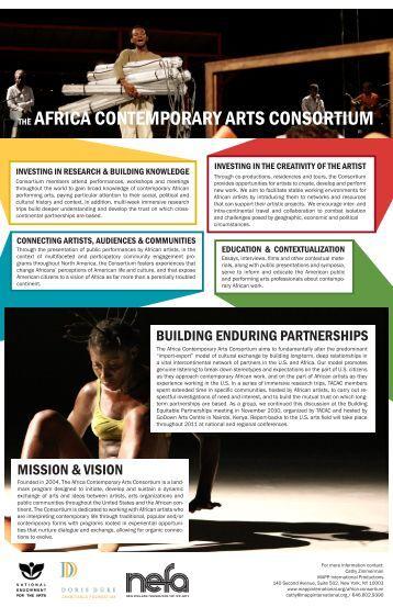 the africa contemporary arts consortium - MAPP International ...