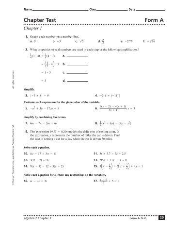 algebra 2 chapter 1 practice test answers algebra 2 8 9