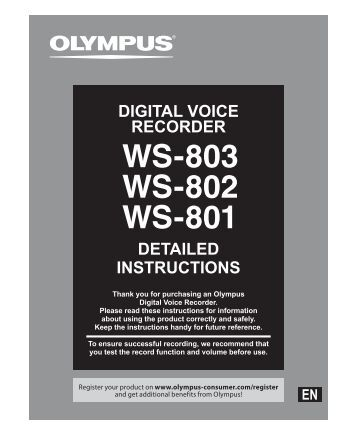 digital voice recorder instructions