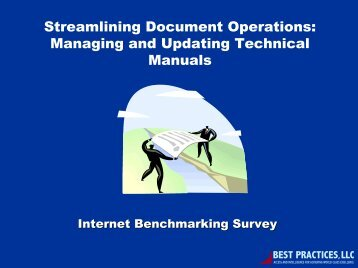 Managing and Updating Technical Manuals - Best Practices, LLC
