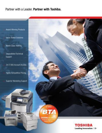 to download a Partner Brochure - Toshiba