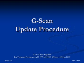 G-Scan Update Process - OEM TOOLS - OEMTools.com
