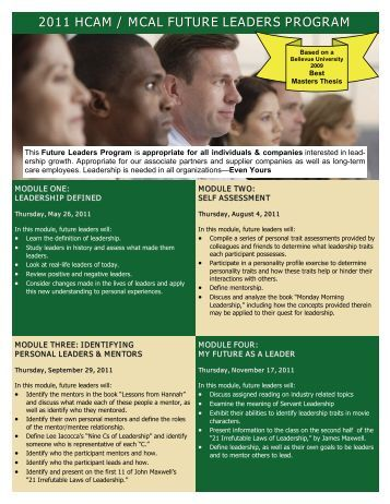 1/18/2011 Future Leaders Printable Brochure .pdf - Health Care ...