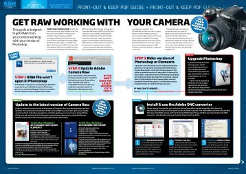 Get raw worKinG with your camera