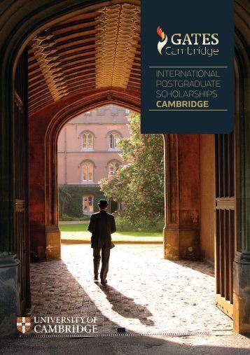international postgraduate scholarships cambridge - Gates ...