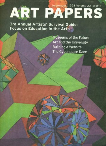 Art Papers, July/August 1998 - James Nestor