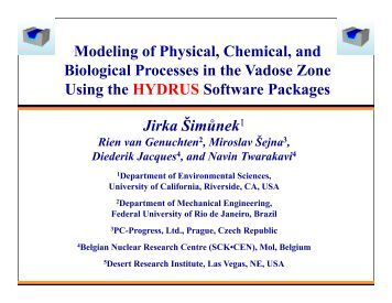 Modeling of physical, chemical and biological processes in ... - KSCST