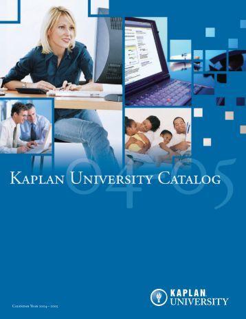 Calendar Year 2004 – 2005 - Kaplan University | KU Campus
