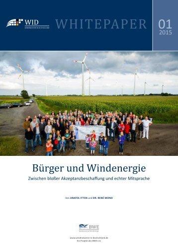 WID-WHITEPAPER Bürger und Windenergie