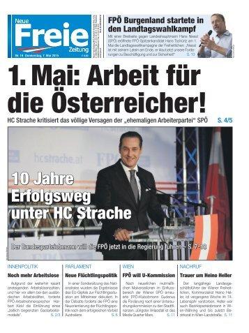 1. Mai: Arbeit für die Österreicher!