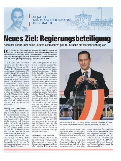 10 Jahre FPÖ-Bundesparteiobmann HC Strache