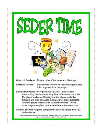 pdf Seder Time Board Game and blessings.pub - Central Agency for ...
