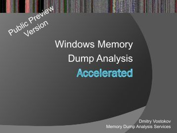 analyzing windows memory essay System, from cpu registers to device controllers to memory contents  explain  the fundamental differences between the unix fork() and windows  createprocess()  distinguish if a process is only reading or reading/writing  shared data.