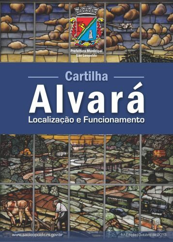 Cartilha ALVARÁ_10.09.2013 - Prefeitura Municipal de São Leopoldo