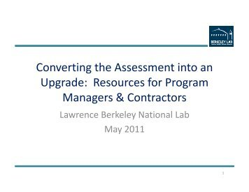 Converting the Assessment into an Upgrade - Driving Demand for ...