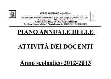 Piano di studio annuale orsolinetrastevere it for Piano di studio