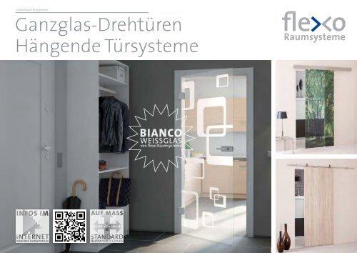 Flexo - Ganzglas-Drehtüren und Hängende Türsysteme