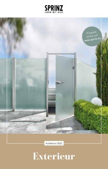 Sprinz Exterieur Design Glas im Außenbereich