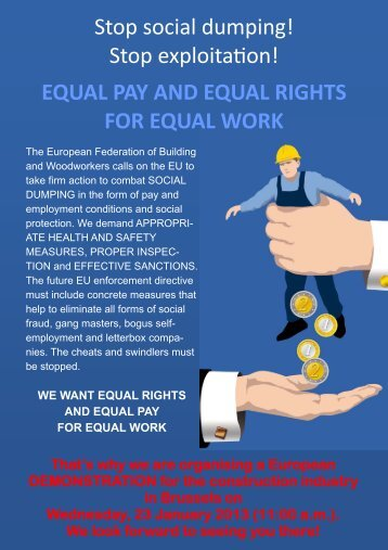 EQUAL PAY AND EQUAL RIGHTS FOR EQUAL WORK