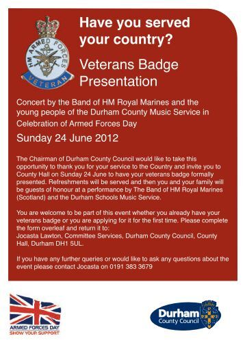 Armed Forces Day 2012 Durham County Council - Nigel Martin