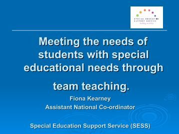 Meeting the needs of students with special educational needs ...