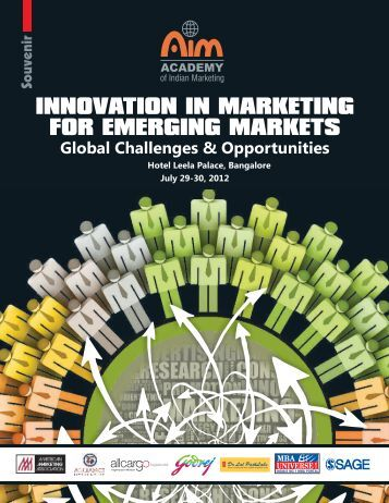 INNOVATION IN MARKETING FOR EMERGING MARKETS