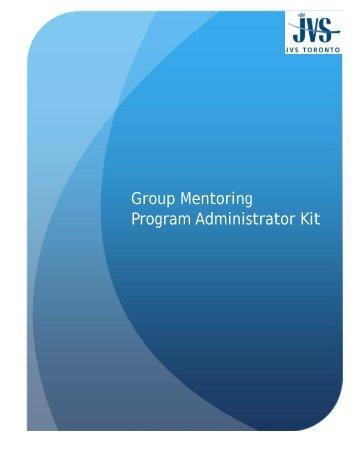 Group Mentoring Program Administrator Kit - Allies Canada