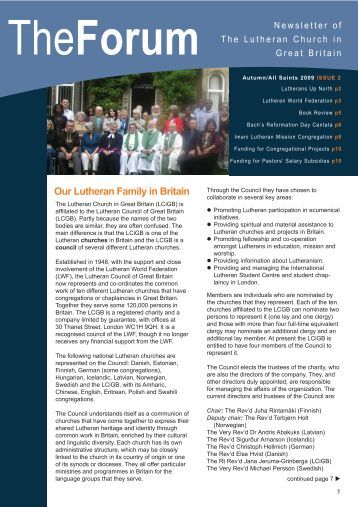 Autumn/All Saints 2009 ISSUE 2 - Lutheran Church in Great Britain