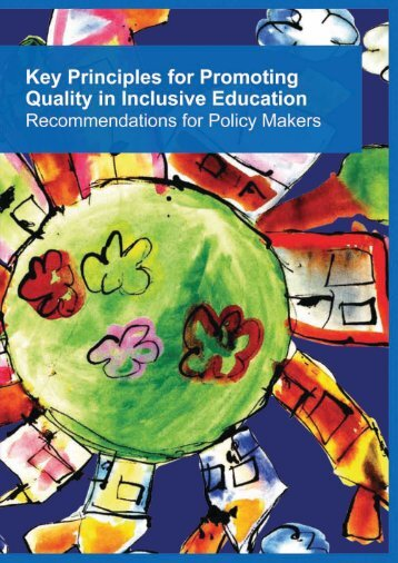 Key Principles for Promoting Quality in Inclusive Education - Europa