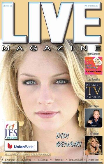 LIVE MAGAZINE VOL 8, Issue #209 May 19th THRU June 2nd, 2015
