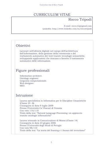 obiettivi professionali nel curriculum vitae