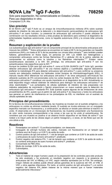 Procedimiento - Inova Diagnostics