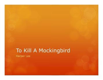 to kill a mockingbird summer reading Honors english 1 summer reading assignment 1 read the following novel: to kill a mockingbird by harper lee 2 answer the ¨short answer questions¨ at the bottom of this page.