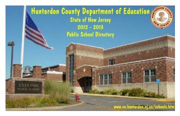 2012-2013 directory - Hunterdon County, New Jersey