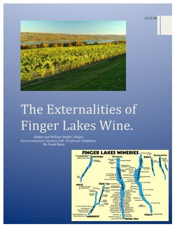 The Externalities of Finger Lakes Wine. - Hobart and William Smith ...