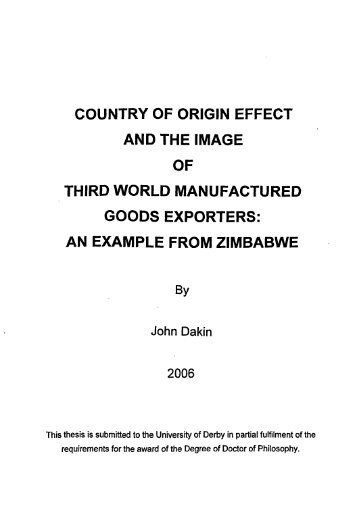 master thesis submitted in partial fulfillment of the requirements