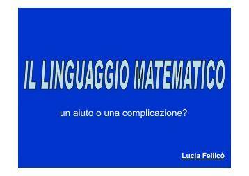 Conferenza Lucia Fellicò -Il linguaggio matematico - Euclide ...
