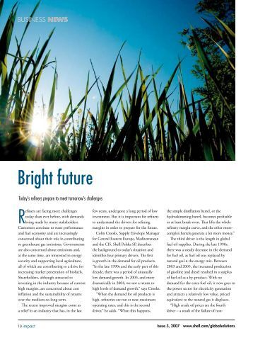 Shell Global Solutions - Business News - Bright Future