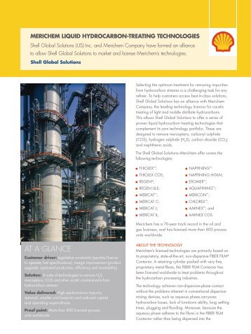Merichem Liquid hydrocarbon-treating Technologies - Shell Global ...