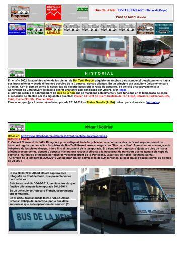 H I S T O R I A L Notas / Noticias - Empresas Autobuses Líneas