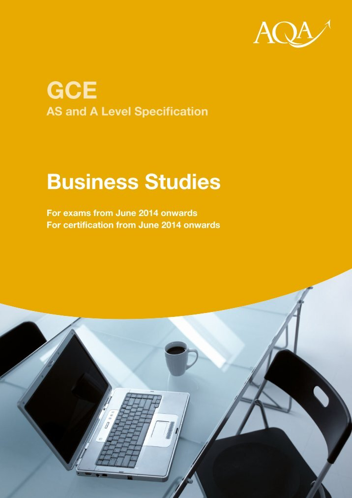 Business Studies Microsite GCE - CCEA