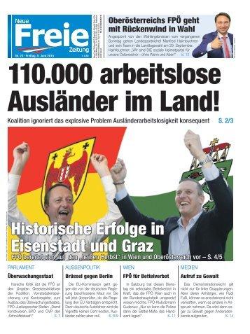 110.000 arbeitslose Ausländer im Land!