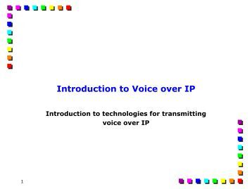 voice over ip thesis View essay - voip solution for ptcl pakistan from telecom en thesis at ned univ of engineering & tech abstract voice over ip is simply the transfer of voice information across an ip network, for.