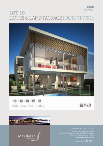 Lot 10 hoUSe & land package FRoM $1.775M