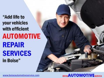 Trusted and expert auto repair services in Boise