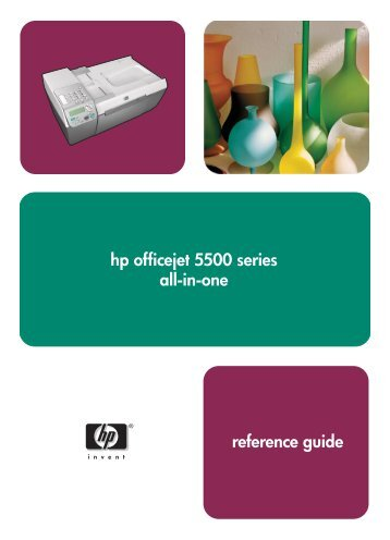 hp officejet 5500 series all-in-one reference guide - Hewlett Packard