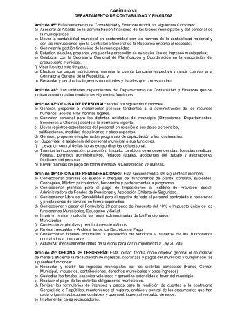 CAPÍTULO VII DEPARTAMENTO DE CONTABILIDAD Y FINANZAS ...