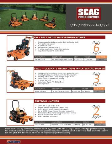 Rc20mower gearmore inc for Gardner inc