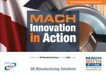 Download the UK Manufacturing Zone Brochure (pdf) - MACH 2014